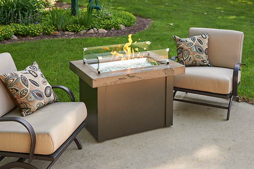 Brown Providence Rectangular Gas Fire Pit Table