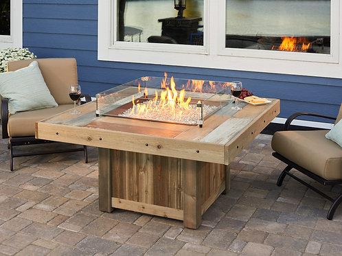 Vintage Square Gas Fire Pit Table
