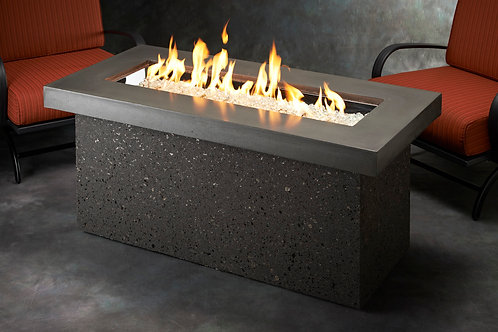 Grey Key Largo Linear Gas Fire Pit Table
