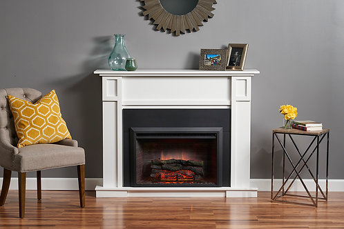 White Heritage Fireplace Cabinet