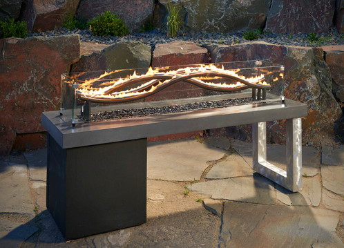 wave fire pit table outdoor living gas tables build your own kit diy plans instructions