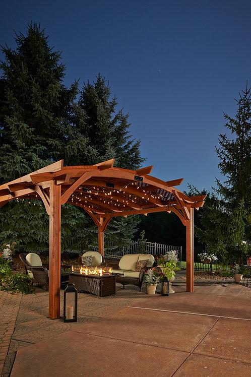 12x16' Redwood Sonoma Wood Pergola Kit