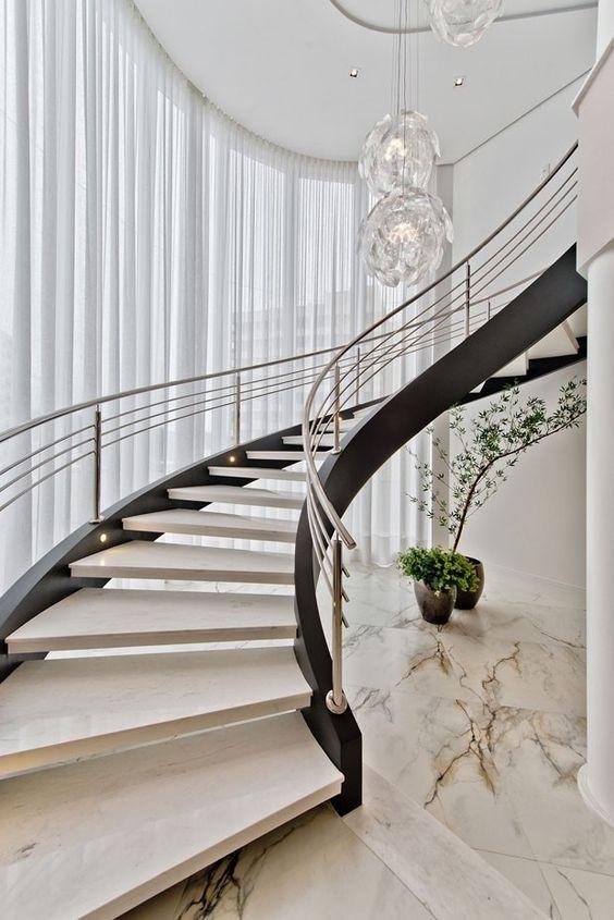 25 Escadas que podem valorizar a sua casa - Blog Project Studio Arquitetura