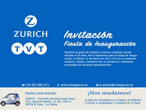 Invitación a Fiesta de Inauguración - Nueva Oficina en El Paso - La Palma
