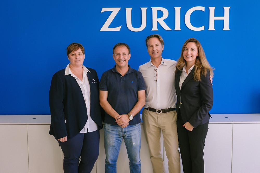 Sergio Rodríguez, Alcalde de El Paso; Ralf Wichels, director general y fundador de TVT Seguros – Zurich; Iris Schwartz, directora de la agencia en La Palma y Susana Wichels, directora de marketing de TVT Seguros.