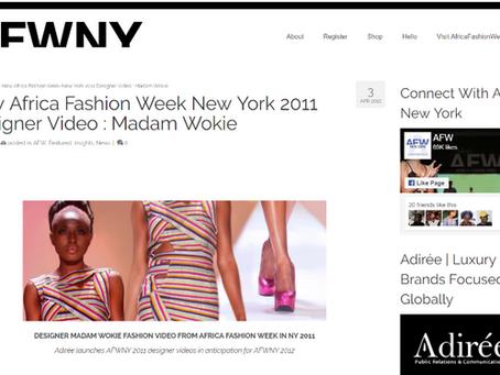April 2012: New Africa Fashion Week New York 2011 Designer Video : Madam Wokie
