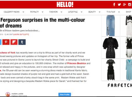 HELLO MAGAZINE UK: Sarah Ferguson surprises in the multi-colour dress of dreams