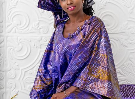 Isatu Lamrana Jalloh celebrating Eid wearing Madam Wokie