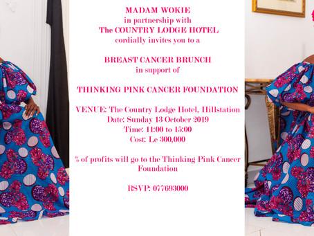 13/10/2019 Madam Wokie & the County Lodge Hotel Breat Cancer Brunch