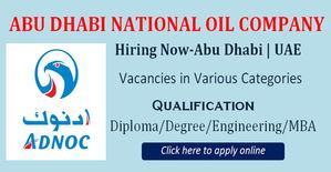 ADNOC Careers for Freshers & Jobs Vacancies 2018