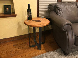 Cherry End Table with Walnut Inlay