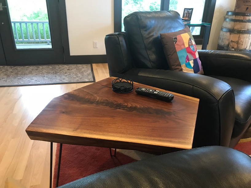 Walnut Wedge Table