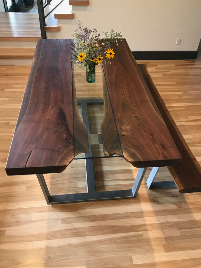 Glass Runner Dining Table