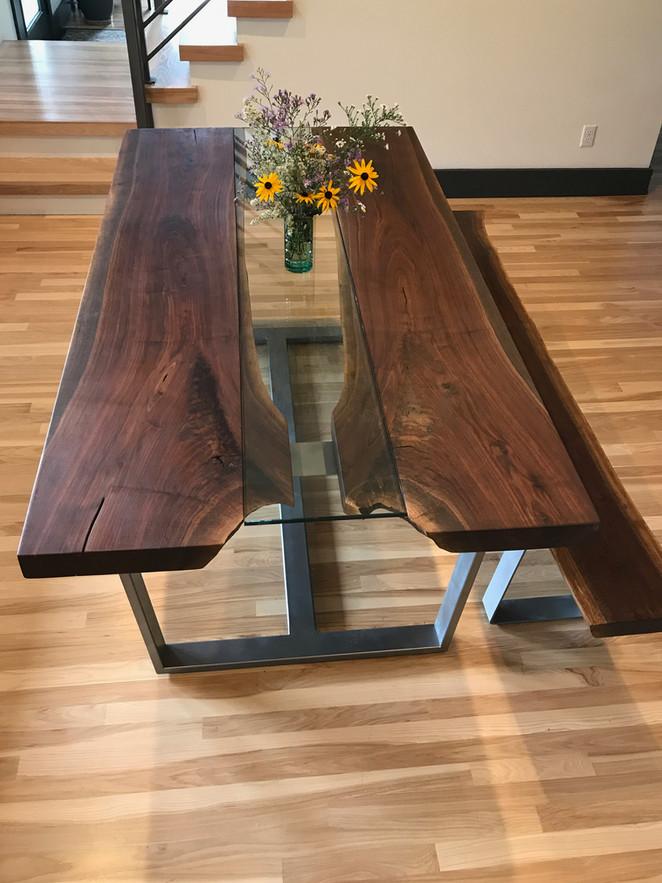 Glass Runner Dining Table