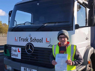 A well deserved pass for Joel Belbin who took his class 2 test today.