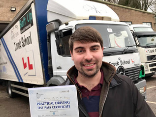 Jamie Tanner took and passed his class 2 test yesterday at his FIRST TIME attempt.
