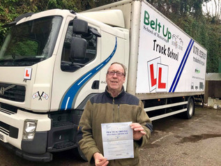Well done to Paul Whittock who took and passed his class 2 HGV test today.