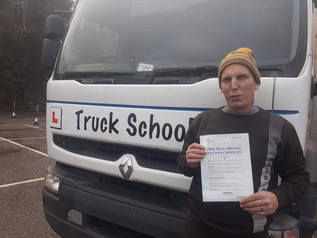Shane took and passed his class 2 test at the FIRST TIME