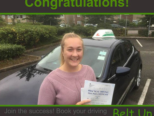 Molly Brooks passed her test today at Kingswood with only 5 faults with our instructor Paul! Well Do