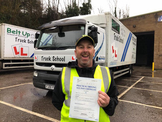 Well done for a well deserved class 2 test pass by Gary Martin today.