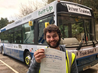 Steven Jewell took and passed his bus (PCV) test this morning. Well done. With his Mod 4 CPC complet