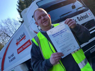 Barry Woods took and passed his class 1 test this morning.