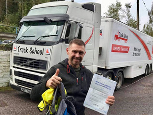 Well done to Krzysztof for passing his class 1 test today! Another great result for Truck School.