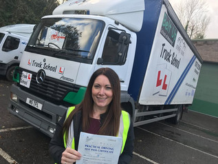 Our own office based instructor, Elaine, took and passed her class 2 test today at her FIRST TIME at