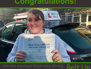 🔴 TEST PASS! 🔴  Congratulations to Kayleigh Spence!