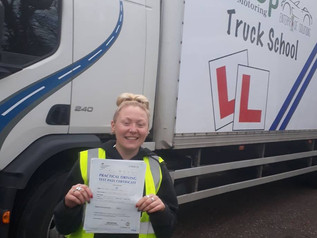 Sophie Grey took and passed her class 2 test today. This was following our funded route of training