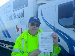 Mark Cox took and passed his class 2 driving test today at the FIRST TIME attempt!