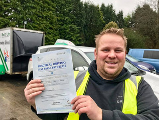 Great news as Sam Hansford took and passed his car and trailer test today at the FIRST TIME attempt.