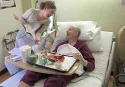Julia with Hospitalized Veteran