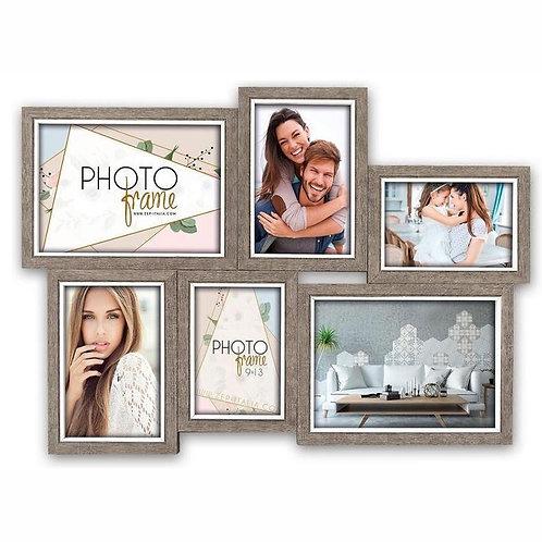 ZEP - Multi Houten Fotolijst Varel grijs / wit