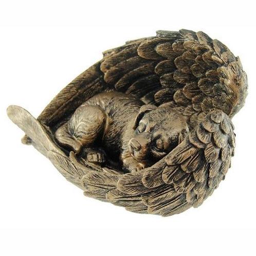 AL - Urn Hond Brons Vleugels