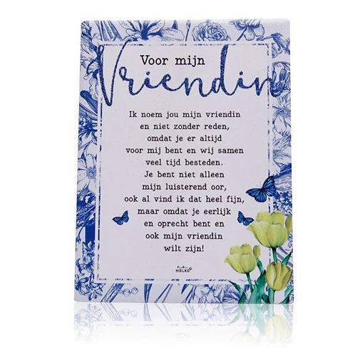 Gedichtentegel 'Voor Mijn Vriendin'