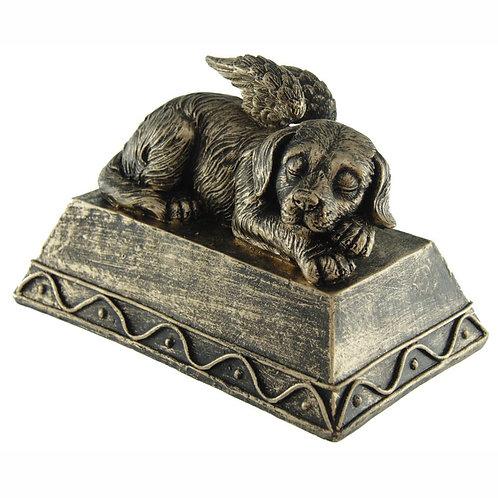AL - Urn Hond Liggend Brons