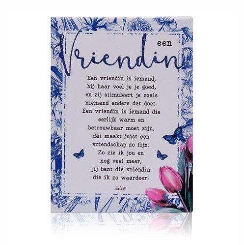 Gedichtentegel 'Een Vriendin'
