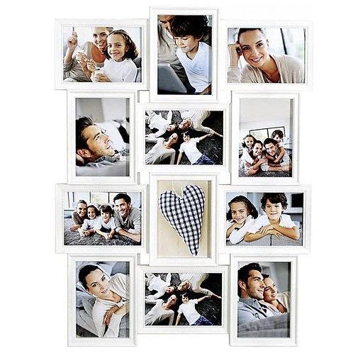 AL - Witte Collagelijst - 12 foto's - 13 x 18 cm