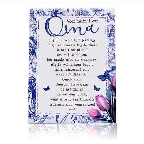 Gedichtentegel 'Voor Mijn Lieve Oma'