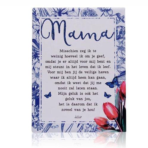 Gedichtentegel 'Mama'