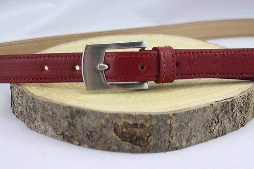 ceinture femme rouge doublé cuir végétal cuir maroquinerie artisanale fabrication française Atelier Antiope©