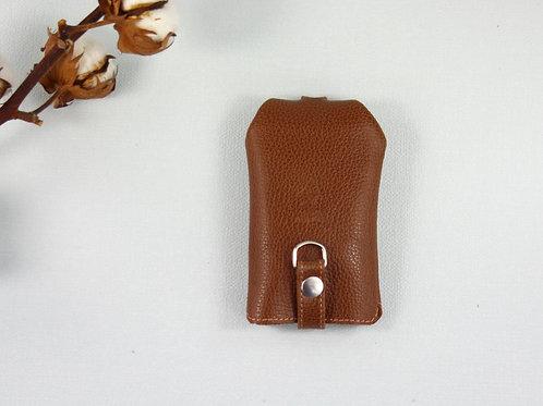 rangement clés porte-clés marron grainé cuir maroquinerie artisanale Atelier Antiope© française
