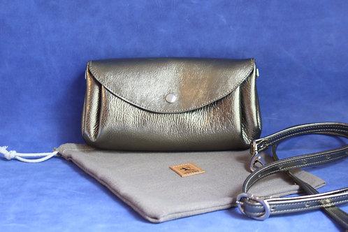 petit sac d'été cuir maroquinerie artisanale fabrication française bronze Atelier Antiope©