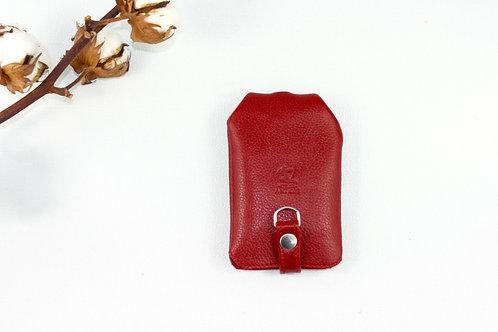 rangement clés porte-clés rouge cuir maroquinerie artisanale Atelier Antiope© française