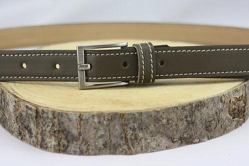 ceinture femme kaki vert doublé cuir végétal cuir maroquinerie artisanale fabrication française Atelier Antiope©