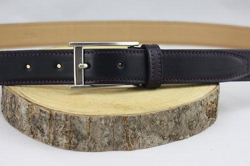 ceinture homme noir doublé cuir végétal cuir maroquinerie artisanale fabrication française Atelier Antiope©