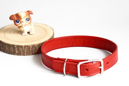 collier chien cuir doublé maroquinerie artisanale fabrication française rouge Atelier Antiope ©