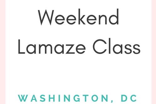 23rd St DC - Lamaze Class - Weekend 1-Day