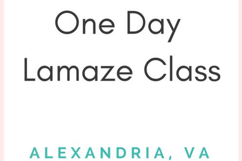 Alexandria, VA (King St)  - Lamaze Class - Weekend 1-Day